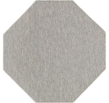 5' x 5' Outdoor Solid Octagon Rug main image