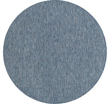 5' x 5' Outdoor Solid Round Rug main image