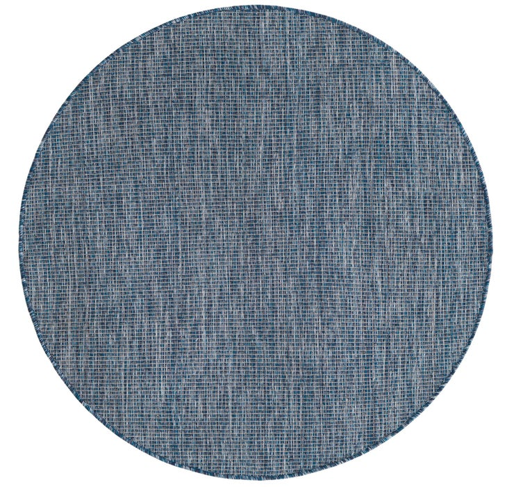 122cm x 122cm Outdoor Solid Round Rug