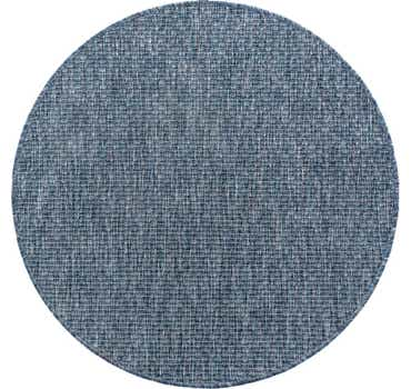 Image of  Blue Outdoor Basic Round Rug