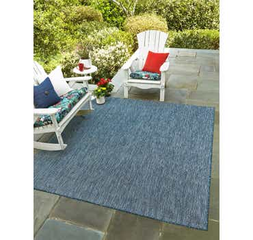 5' x 5' Outdoor Solid Square Rug