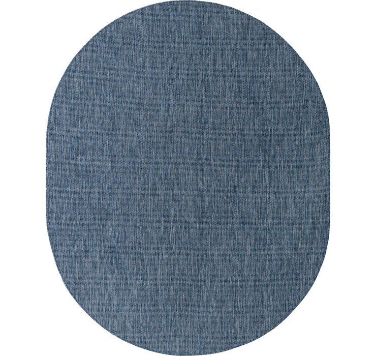 8' x 10' Outdoor Solid Oval Rug