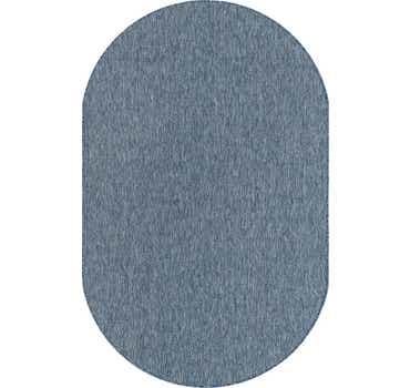 Blue Outdoor Basic Oval Rug