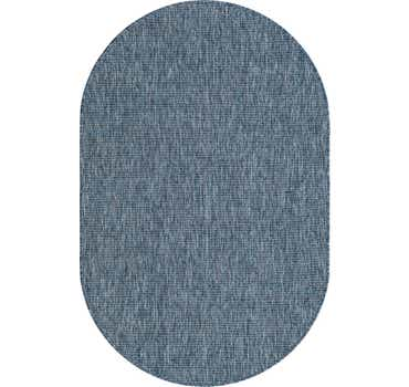 Image of  Blue Outdoor Basic Oval Rug