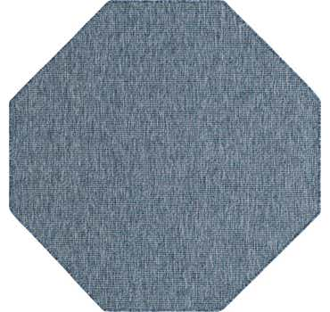 Image of  Blue Outdoor Basic Octagon Rug