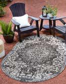 5' 3 x 8' Jill Zarin Outdoor Oval Rug thumbnail