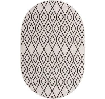 5' 3 x 8' Jill Zarin Outdoor Oval Rug main image
