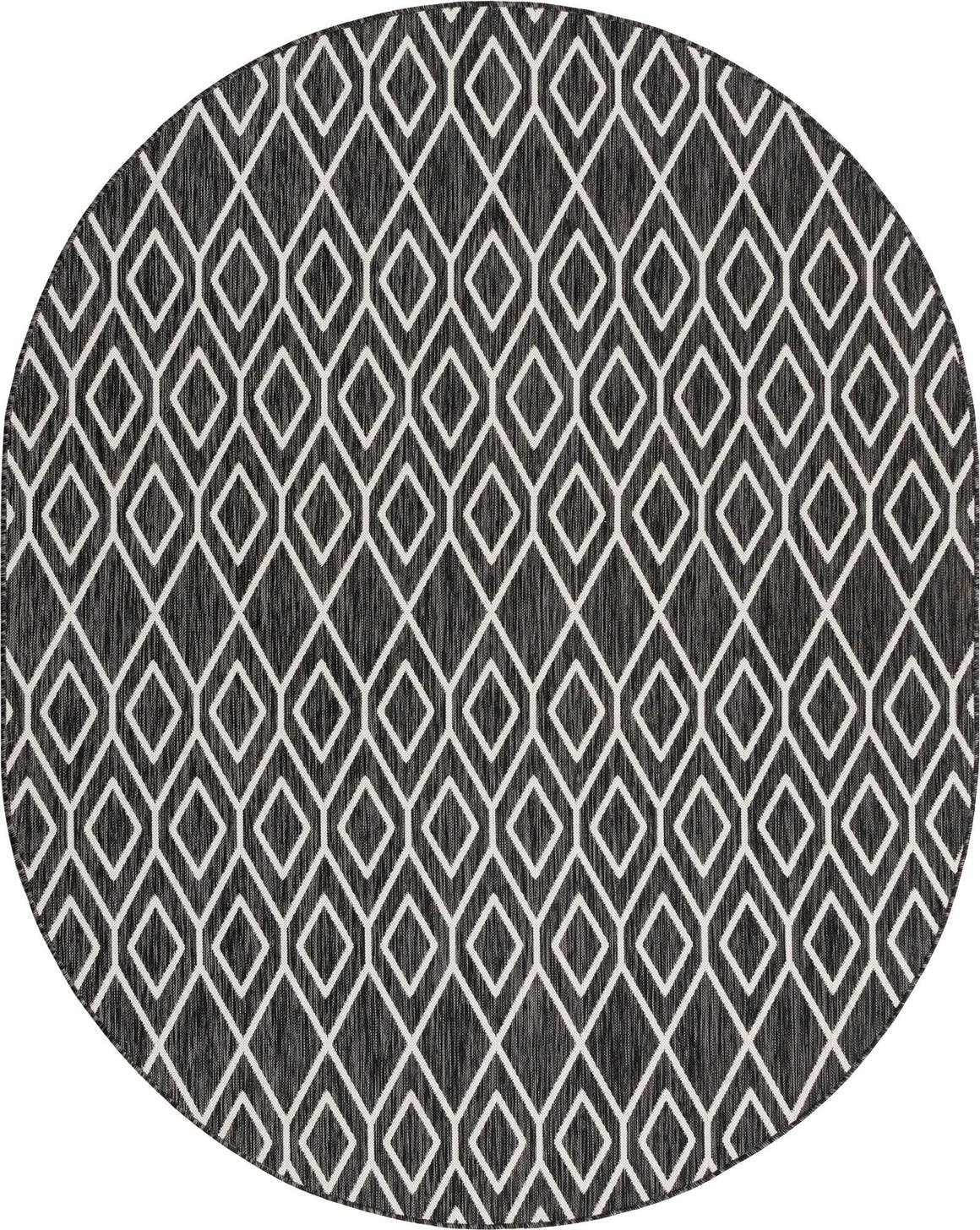 7' 10 x 10' Jill Zarin Outdoor Oval Rug main image