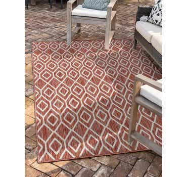 Image of  Rust Red Jill Zarin Outdoor Rug