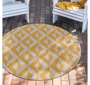 4' x 4' Jill Zarin Outdoor Round Rug