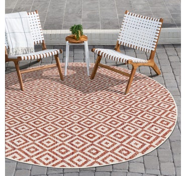 6' 7 x 6' 7 Jill Zarin Outdoor Round Rug main image