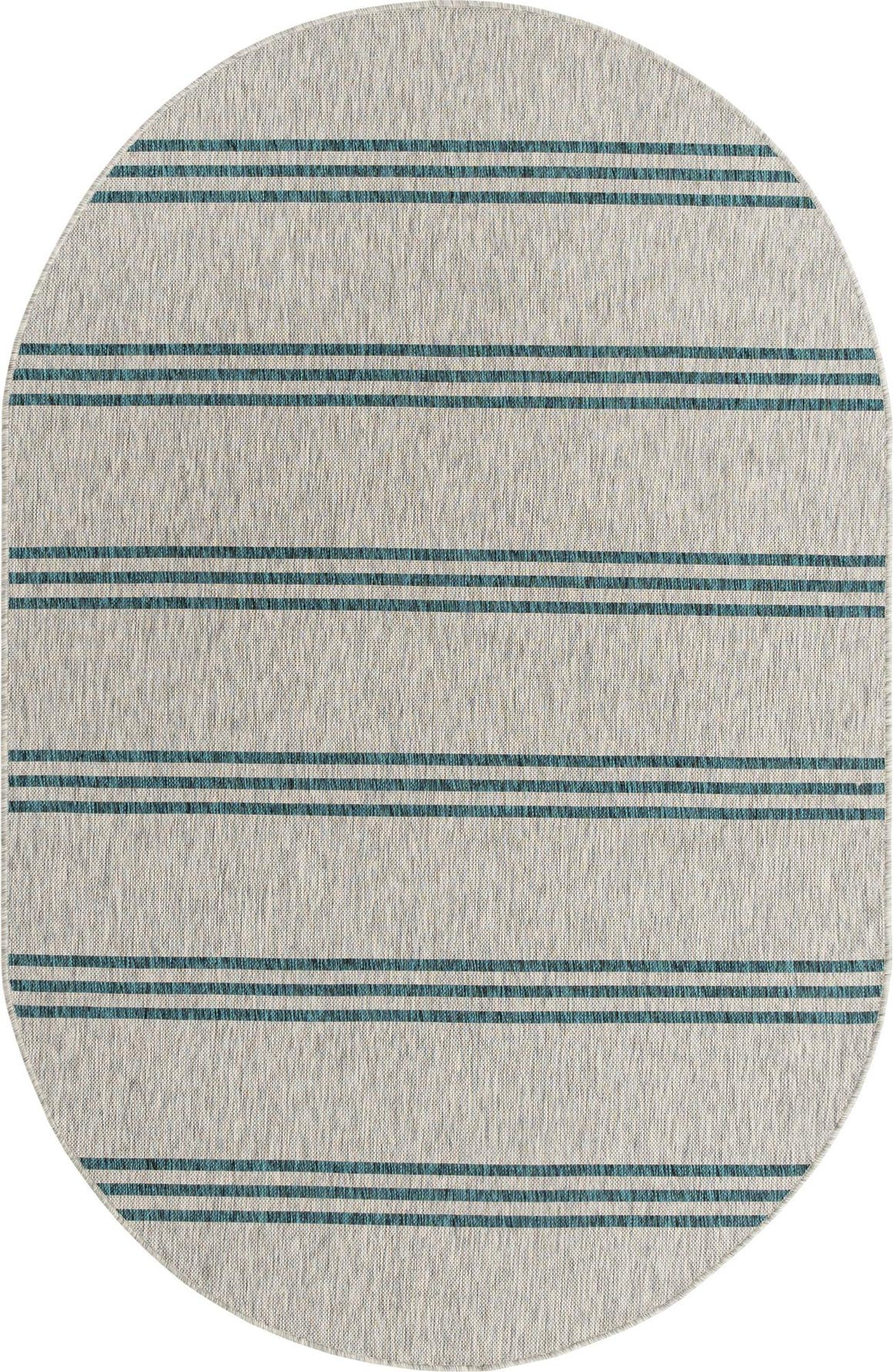 5' 3 x 8' Jill Zarin Outdoor Oval Rug main image