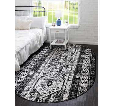 Image of  Black and White Oregon Oval Rug