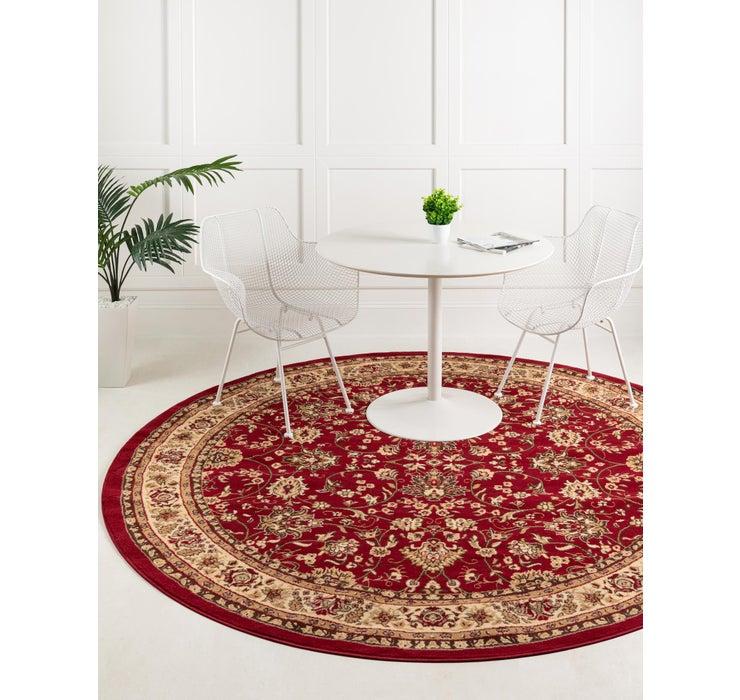 152cm x 152cm Kashan Design Round Rug