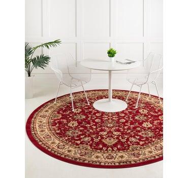 5' x 5' Kashan Design Round Rug