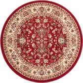 5' x 5' Kashan Design Round Rug thumbnail