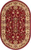 3' 3 x 5' 3 Kashan Design Oval Rug thumbnail