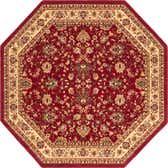 8' x 8' Kashan Design Octagon Rug thumbnail