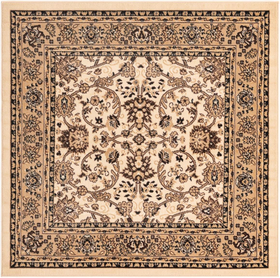 5' x 5' Kashan Design Square Rug main image