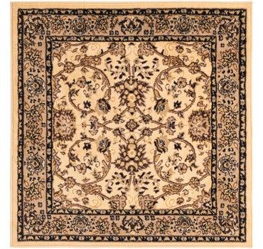 4' x 4' Kashan Design Square Rug main image