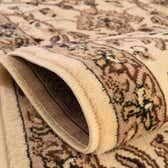 8' x 10' Kashan Design Oval Rug thumbnail