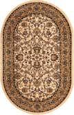 5' x 8' Kashan Design Oval Rug thumbnail