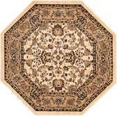 5' x 5' Kashan Design Octagon Rug thumbnail