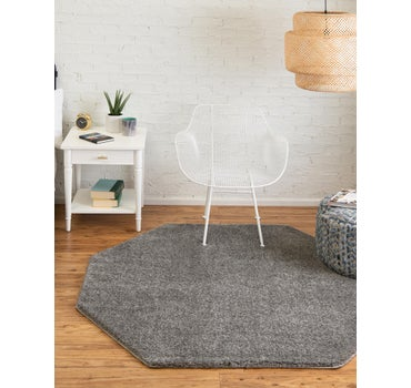 5' x 5' Solid Frieze Octagon Rug main image