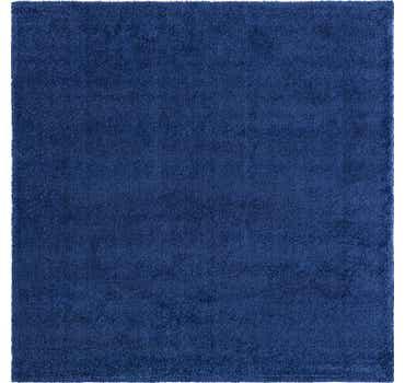 Image of  Navy Blue Basic Frieze Square Rug