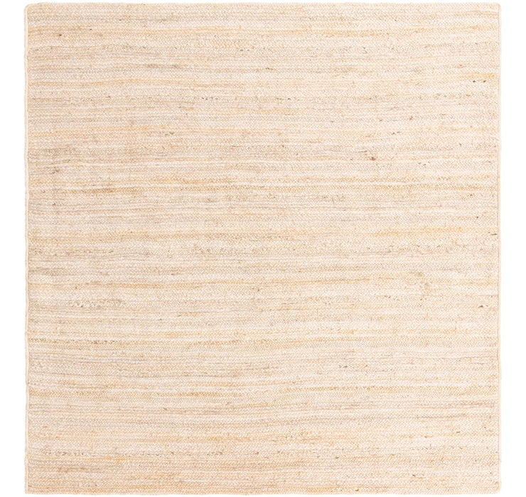 Image of 8' x 8' Braided Jute Square Rug