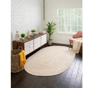 7' 10 x 10' Braided Jute Oval Rug main image