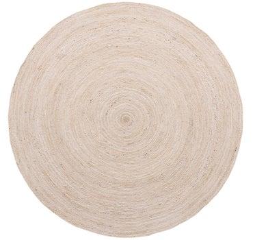 8' x 8' Braided Jute Round Rug main image