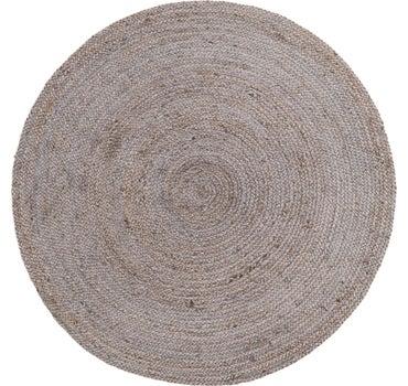 5' x 5' Braided Jute Round Rug main image