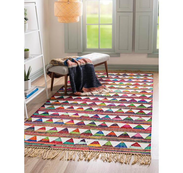 Image of 5' x 8' Chindi Trellis Rug