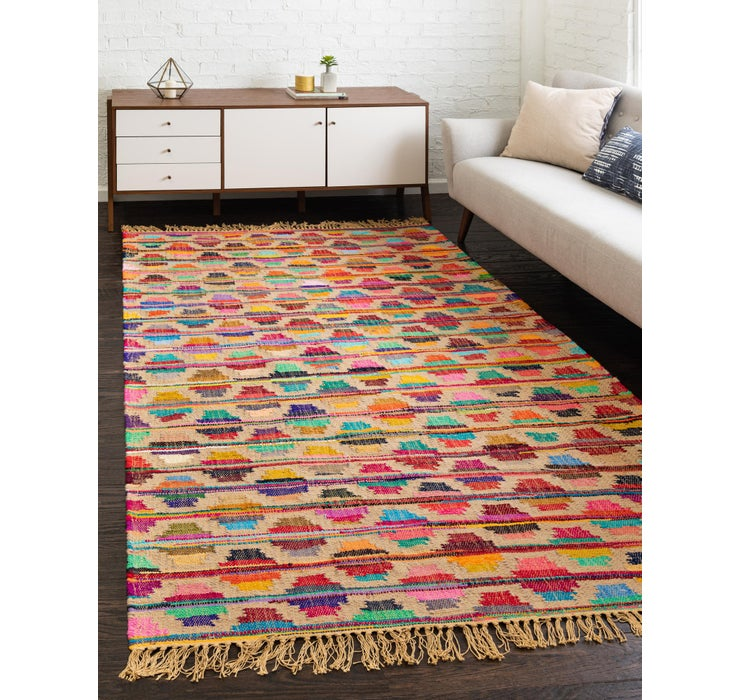 Image of 9' x 12' Chindi Trellis Rug
