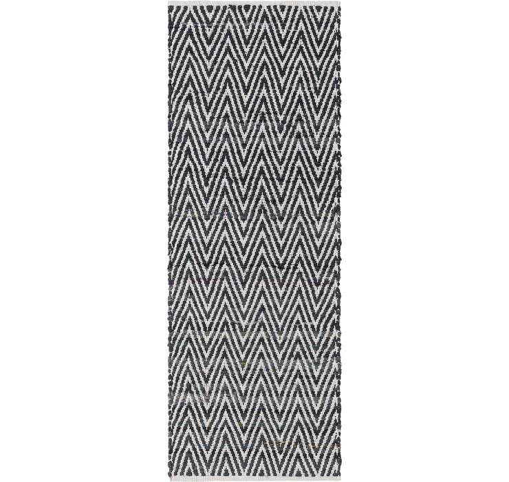 65cm x 183cm Chindi Chevron Runner Rug