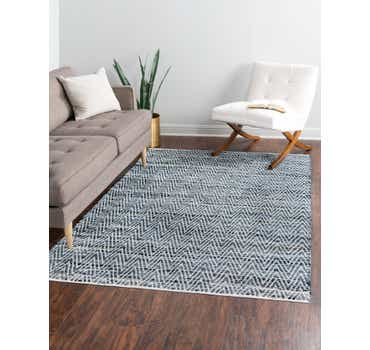 Image of  Denim Chindi Chevron Rug