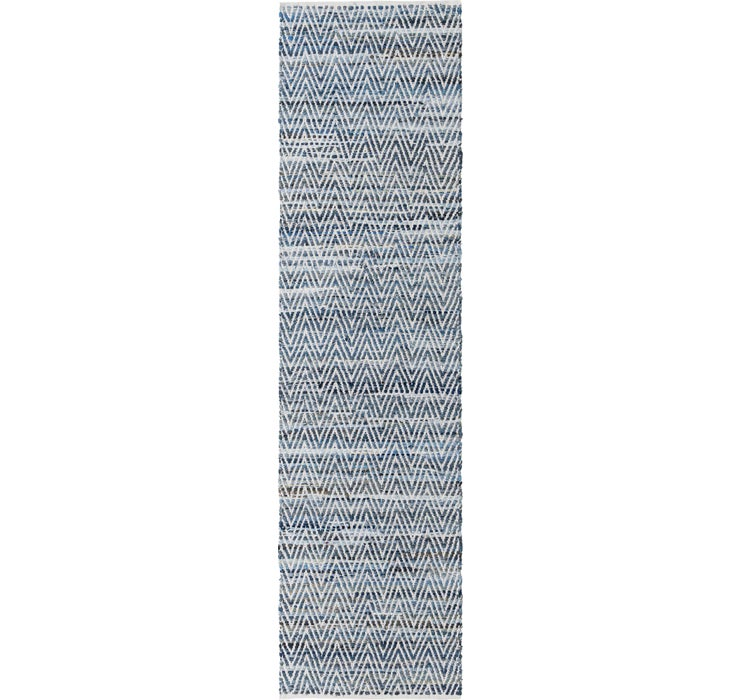80cm x 305cm Chindi Chevron Runner Rug
