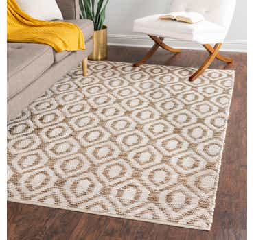 Image of  White Chindi Jute Rug