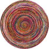 7' x 7' Braided Chindi Round Rug thumbnail