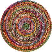 4' x 4' Braided Chindi Round Rug thumbnail