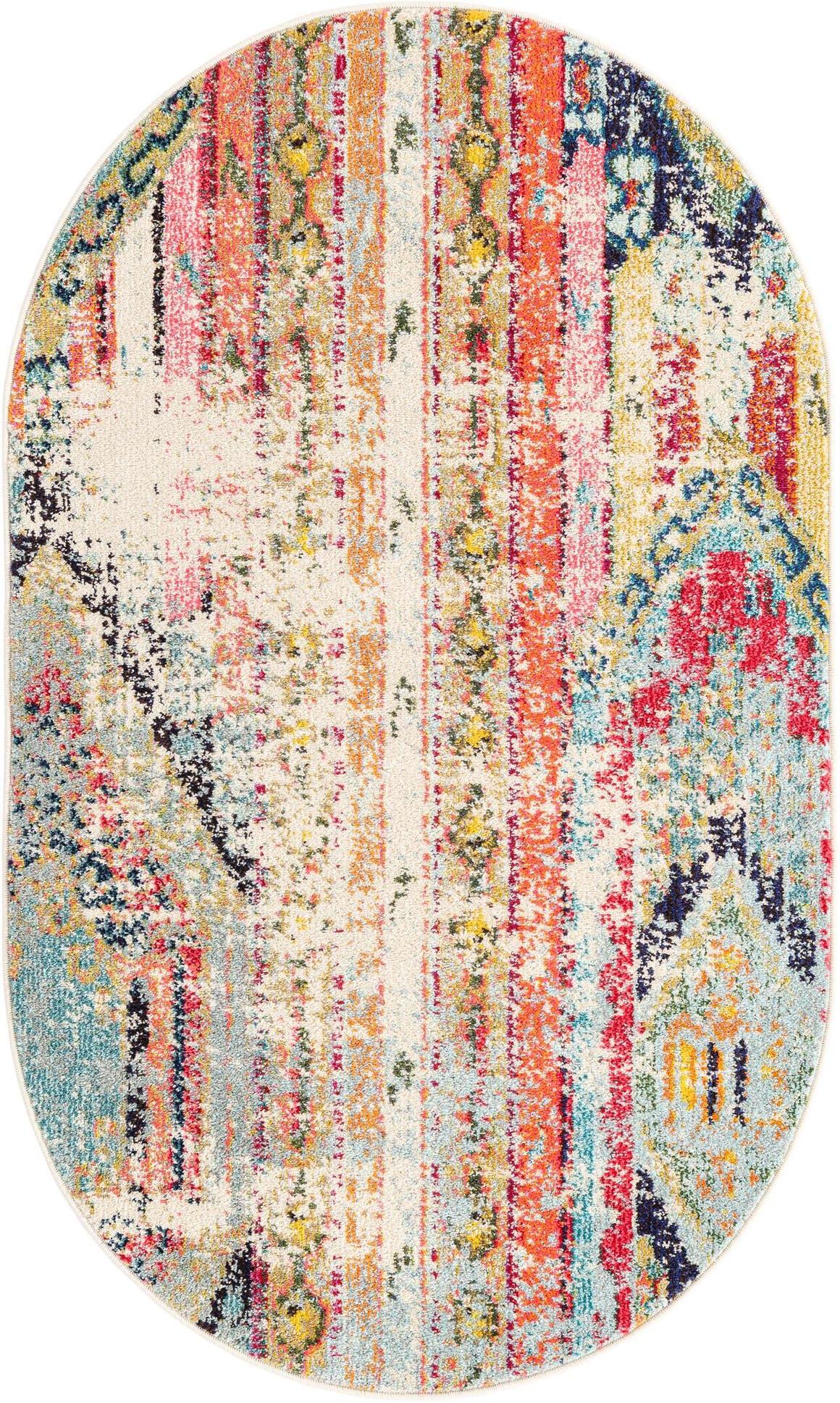 100cm x 160cm Santa Fe Oval Rug main image