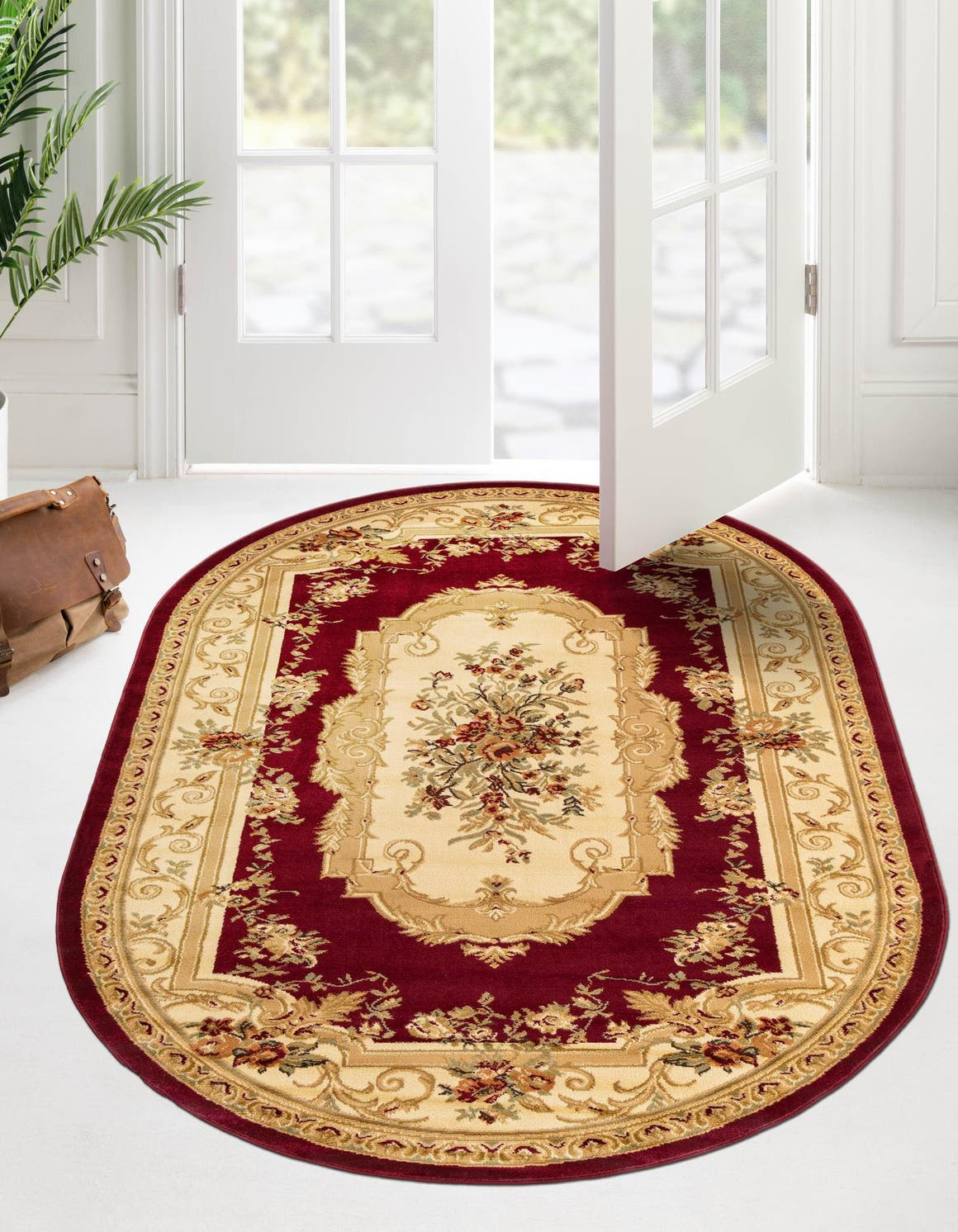 8' x 10' Classic Aubusson Oval Rug main image