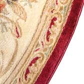 3' 3 x 5' 3 Classic Aubusson Oval Rug thumbnail