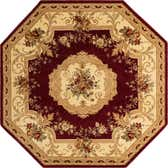 8' x 8' Classic Aubusson Octagon Rug thumbnail