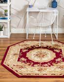 5' x 5' Classic Aubusson Octagon Rug thumbnail