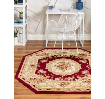 5' x 5' Classic Aubusson Octagon Rug main image