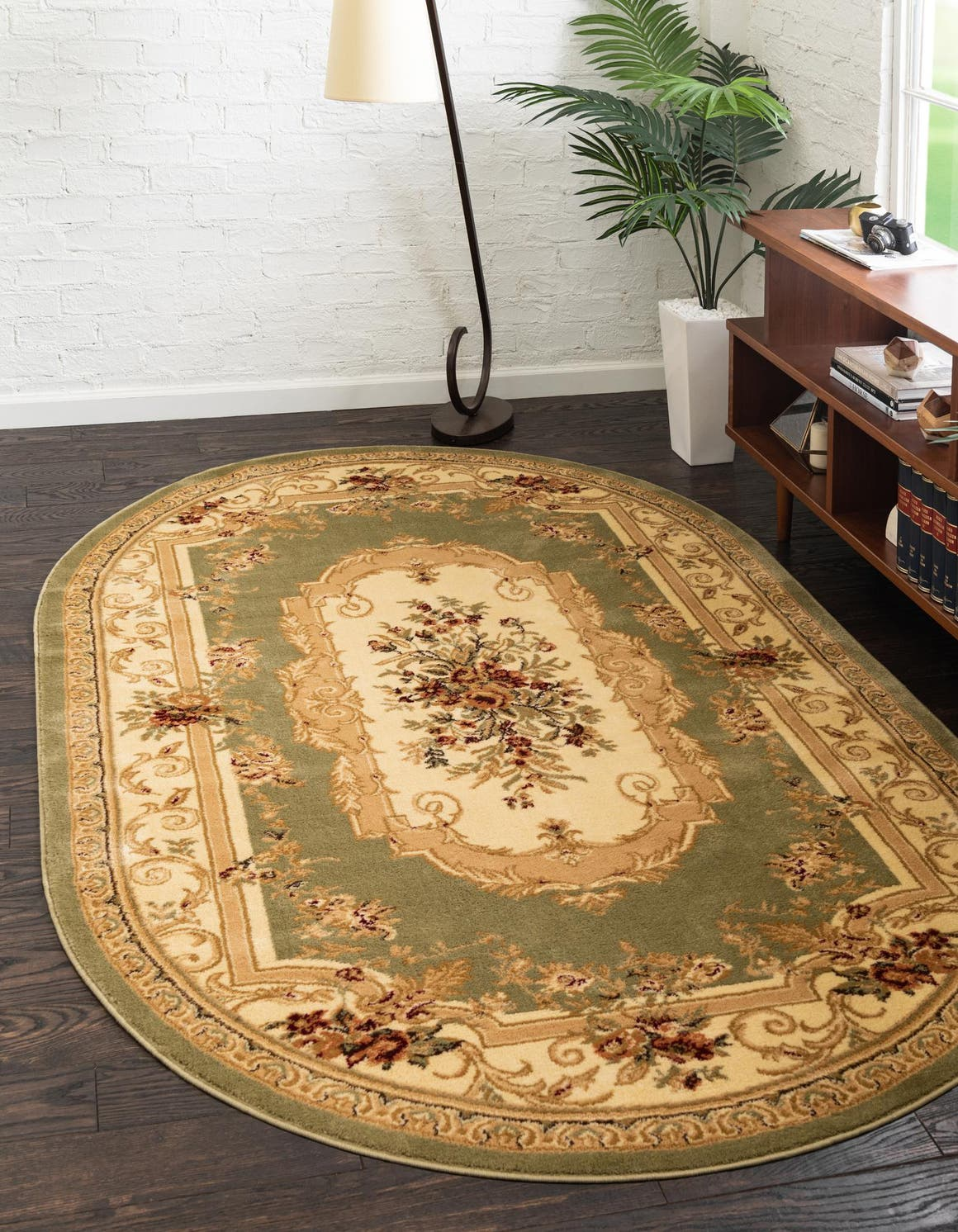 5' x 8' Classic Aubusson Oval Rug main image