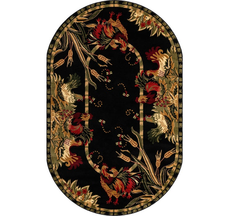 152cm x 245cm Country Oval Rug