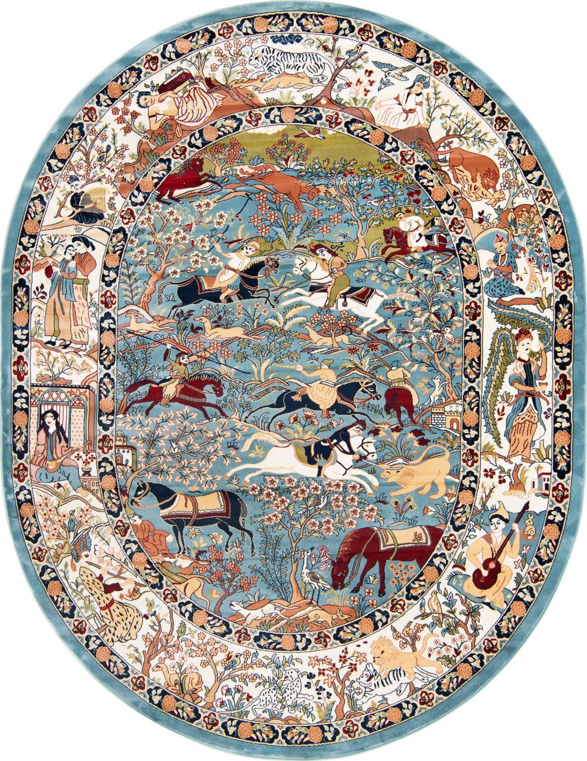 8' x 10' Nain Design Oval Rug main image